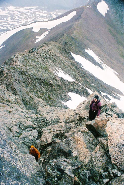 Mt. Lindsey NW Ridge - Skirting Around the Crux