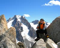 Taking a rest on the way down from Petite Verte