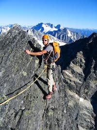 Climbing on the ridge