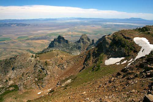 View from near Greys Peak summit