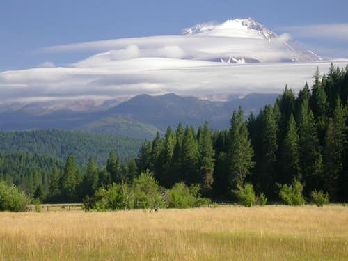 Cloudy Mount Shasta