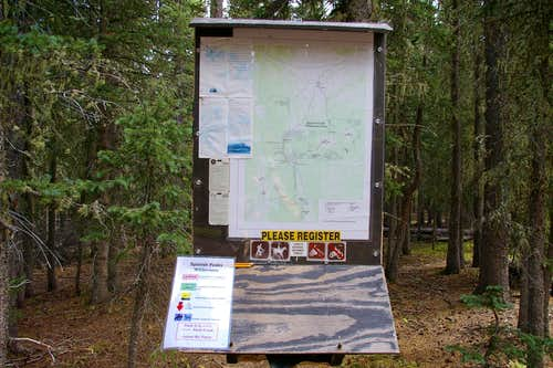 Spanish Peaks Wilderness sign-in station
