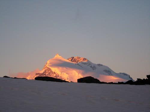 Sun on monte Rosa
