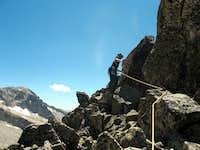 Ascent of Aguja Argarot north ridge.