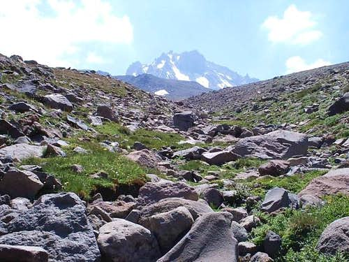 Mt. Erciyes 3918 m. Approach...