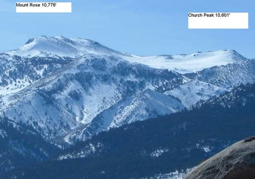 Mount Rose and Church Peak