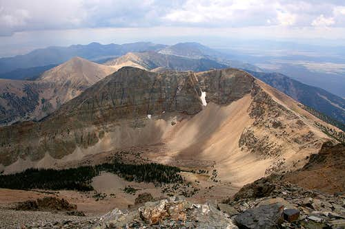 View south from Wheeler Peak summit