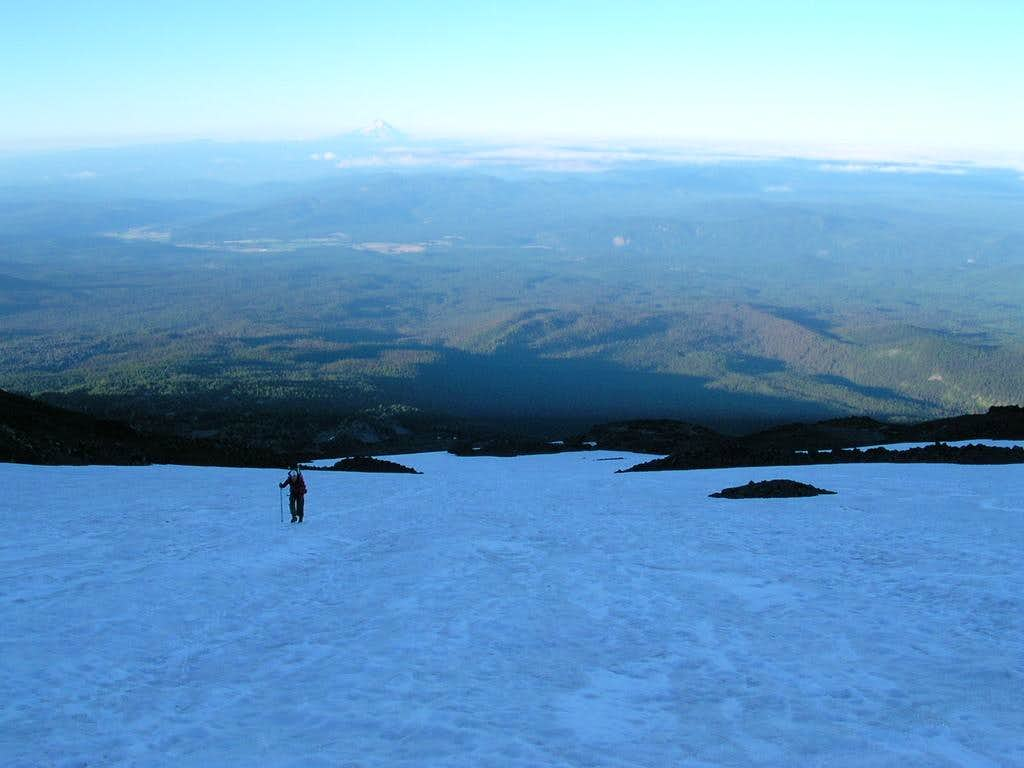 Looking back on the way up to the Lunch Counter on Mt. Adams