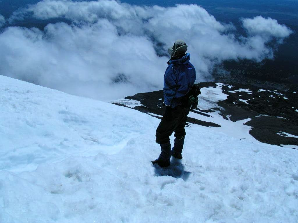 Glissade chute on Mount Adams.