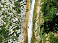Descent over Gregorcic waterfall ?