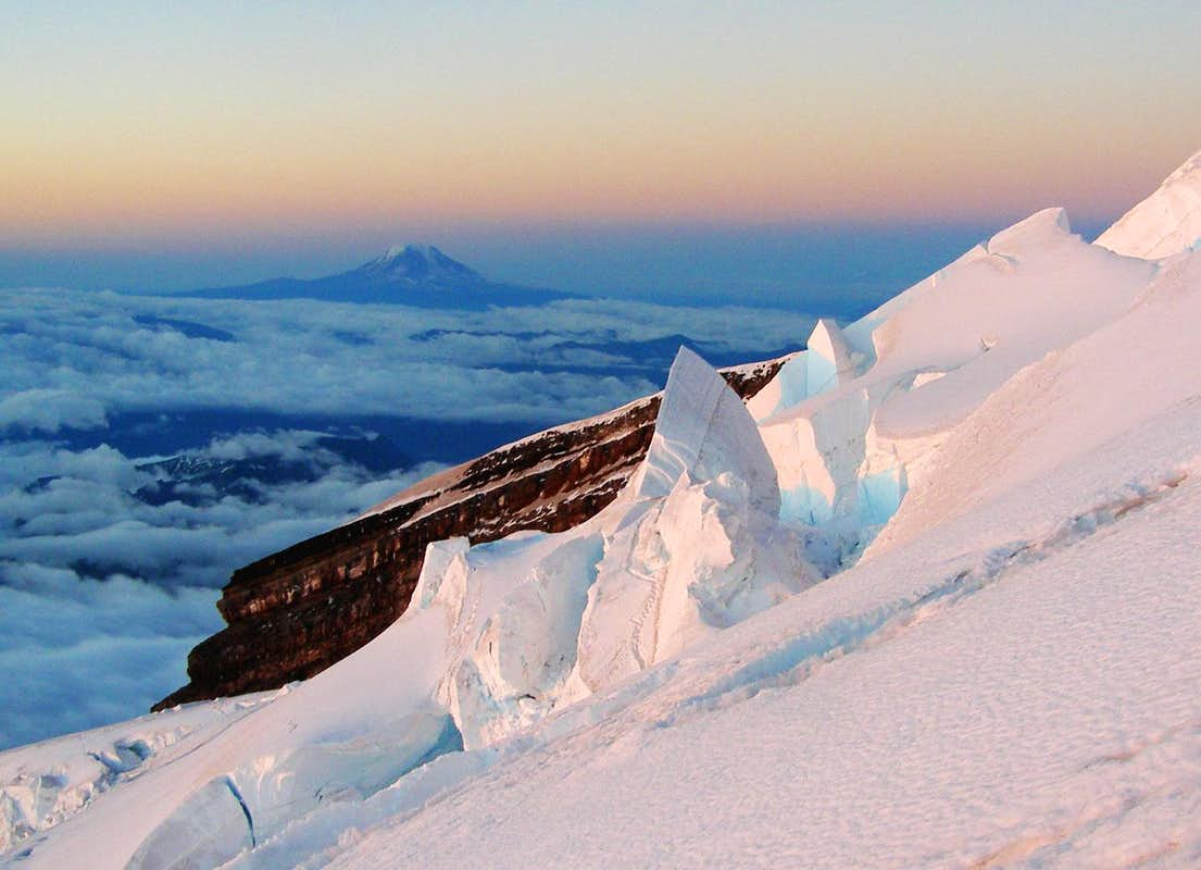 Seracs and Mount Adams