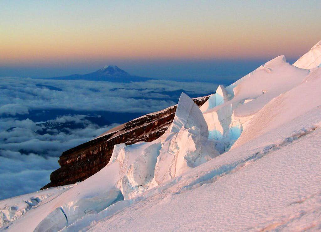 Seracs and Mount Adams