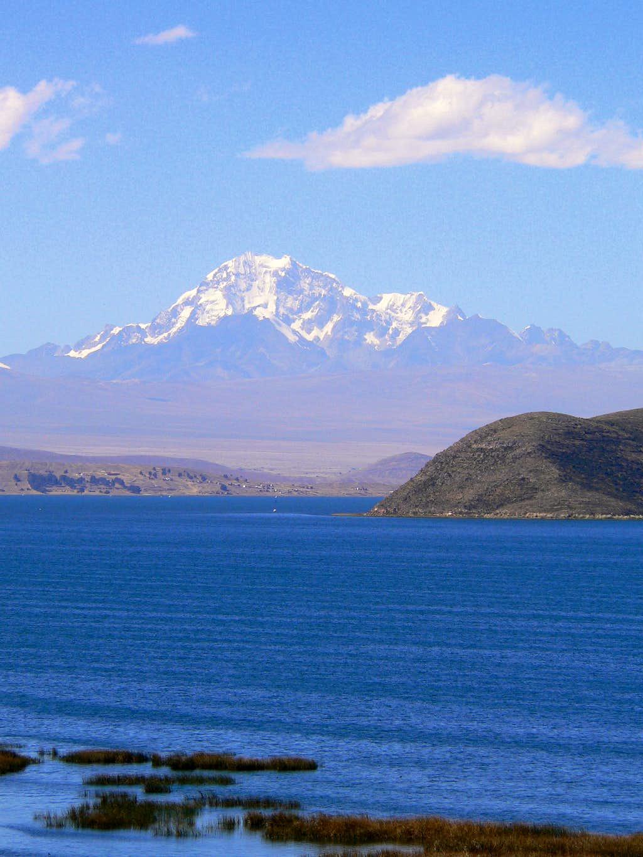 Huayna Potosi from Lake Titicaca