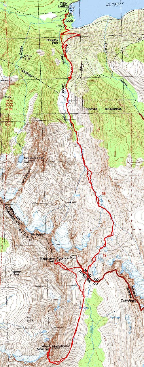 Whorl Mnt Topo Map