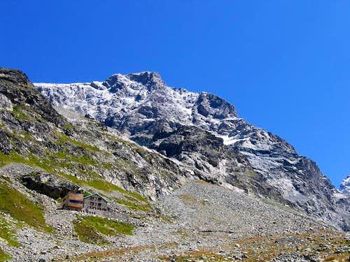 Western view of Piz Morteratsch