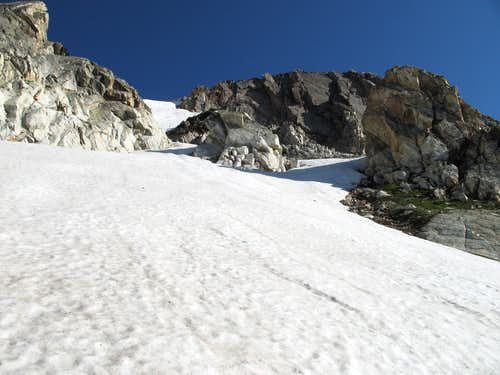 Island Couloir-- Lower Section