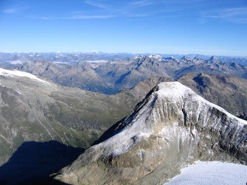 View of Piz Tschierva from the Southeast