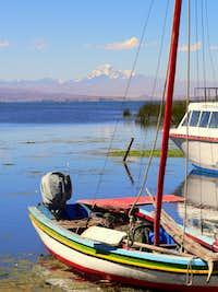 Huayna Potosi from Isla del Sol