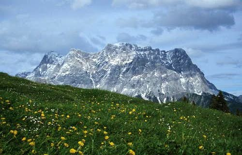 The Zugspitz range seen from...