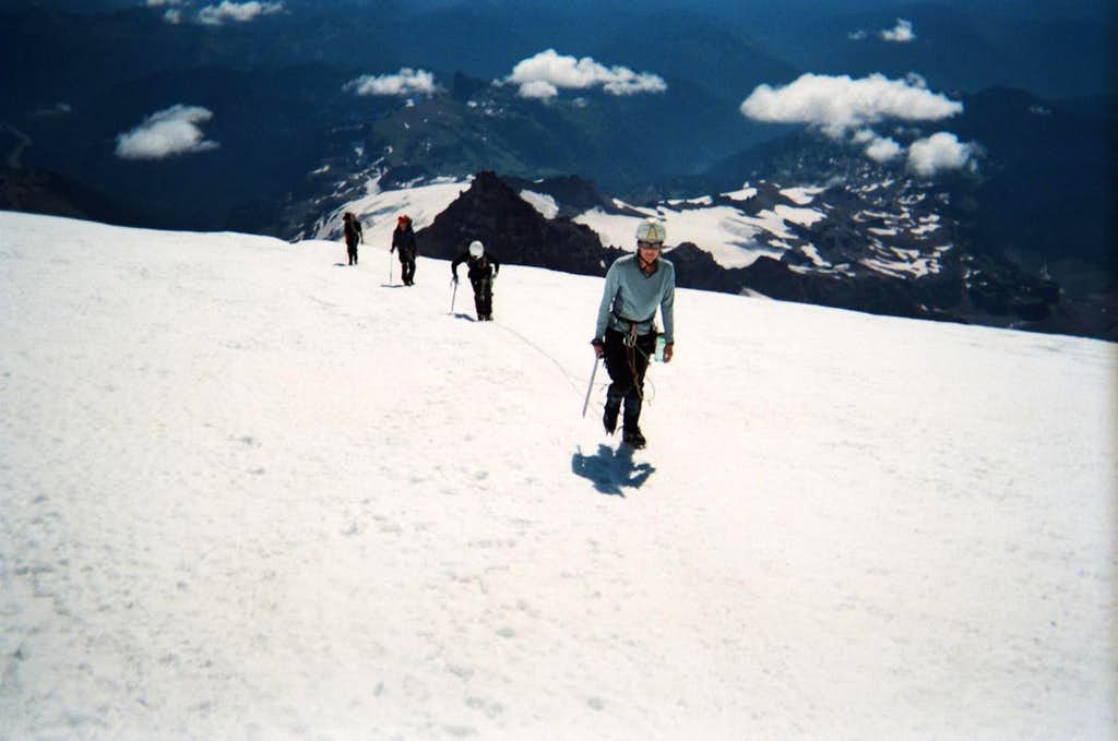 Other climbers on the Emmons Death March