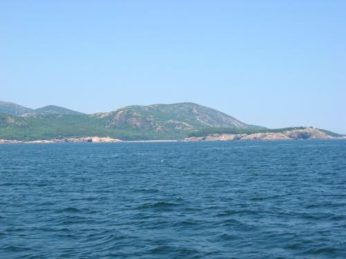 Champlain Mountain From The Sea