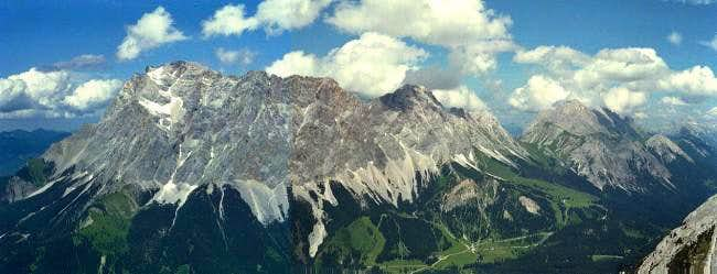 Zugspitze and southern part...