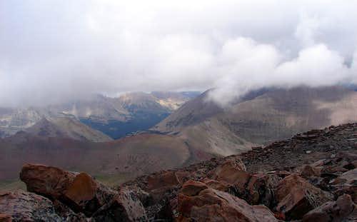 Westward from Mt Lovenia summit