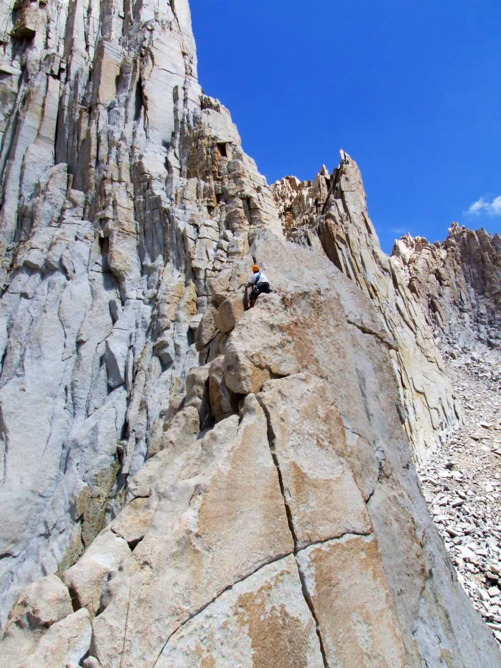 Pitch 4 of Fishhook Arete