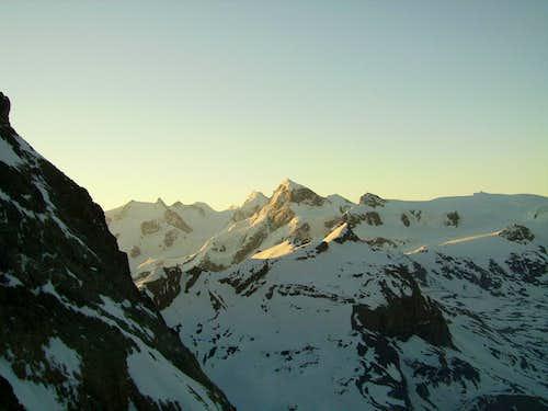 sunrise over Breithorn & Monte Rosa