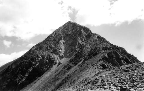 Mount Lindsey in black and...