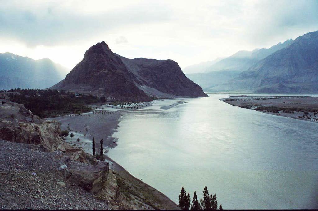 Skardu, the capital city of Baltistan