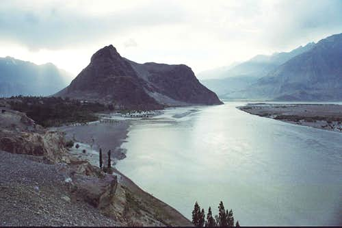 Skardu, the capital city of Baltistan