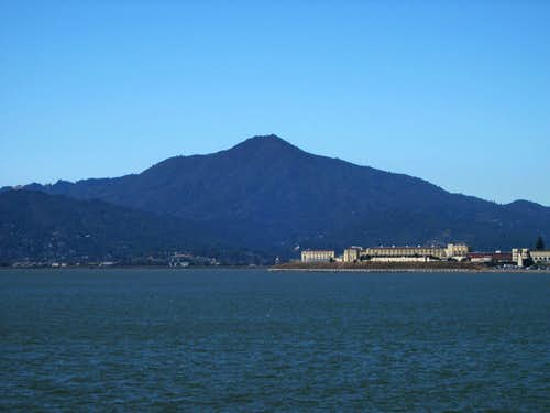Mt. Tam as seen from San Francisco Bay