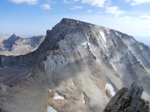 Mount Whitney\'s North Face seen from the summit of Mount Russell