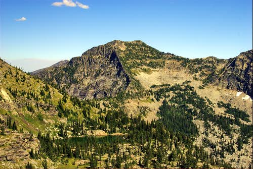 Cliff Lake and Rock Peak from Chicago Peak