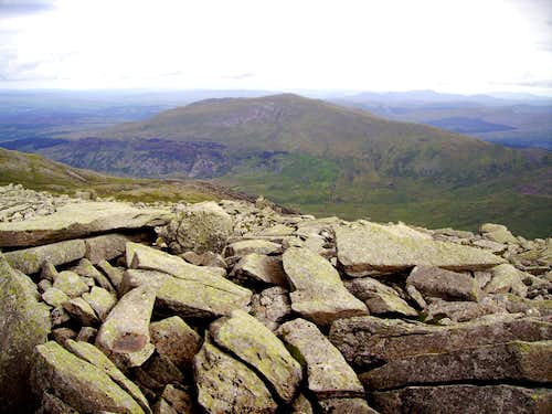 Moel Siabod from Glyder Fach