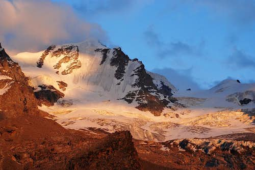 Sunset on Gran Paradiso NorthWest Face