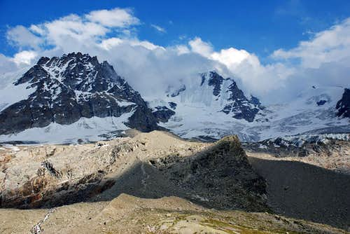 Piccolo and Gran Paradiso from North