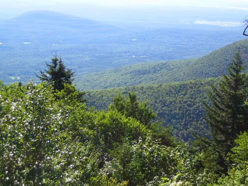 an open view on the Escarpment trail