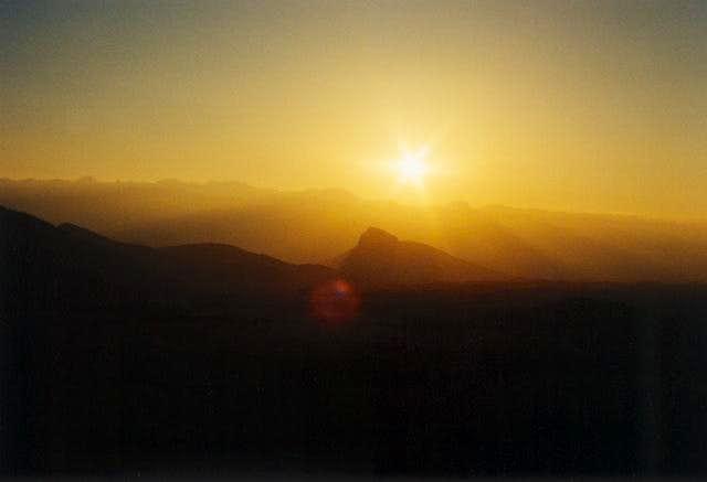 Sun will soon set behind...