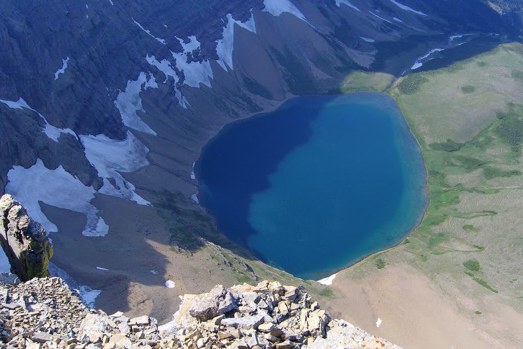 Looking down at Kennedy Lake
