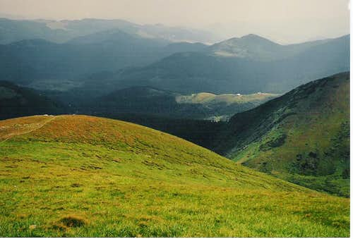 Chornahora from slopes of Hoverla