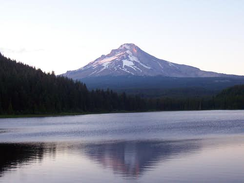 Sunset from Trillium Lake