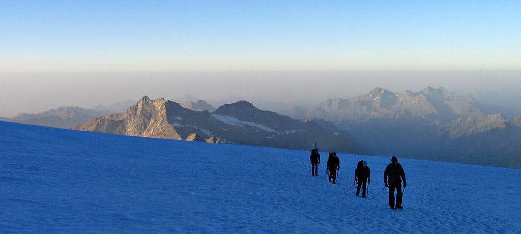 Garstelet Glacier in early morning