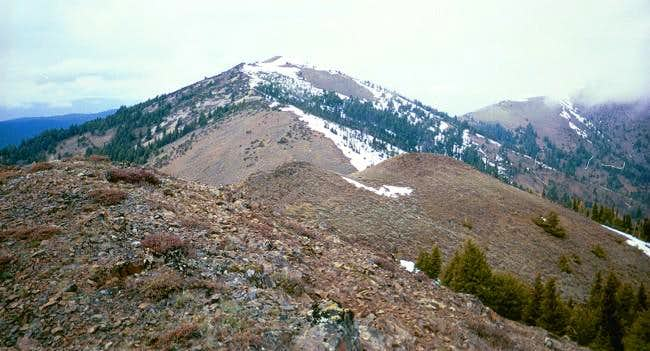Looking over at Fields Peak...