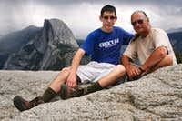 After Hiking Four Mile Trail to Glacier Point