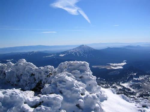 Mt Bachelor from the crater...