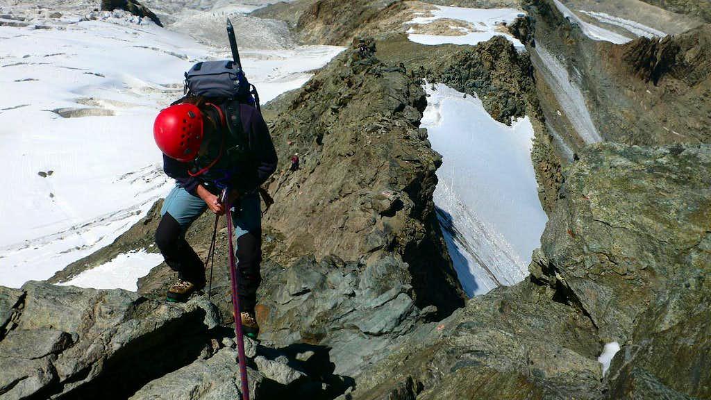 Descending the Fortezza Ridge