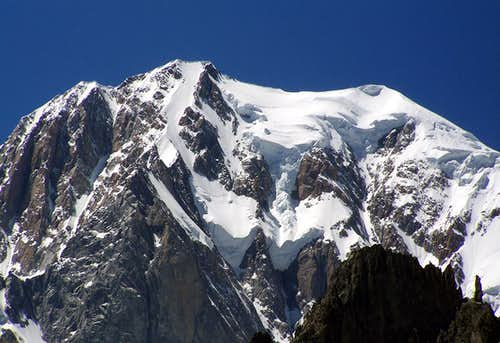 The Brenva side of Mont Blanc