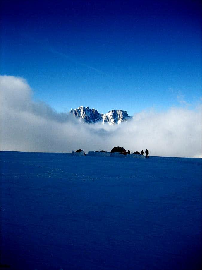 on the Glacier du Geant